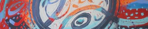 "Magical Journey XXIII, 2018, Jacqueline Unanue, acrylic on canvas, 36""x36"" (91.5x91.5 cm)"