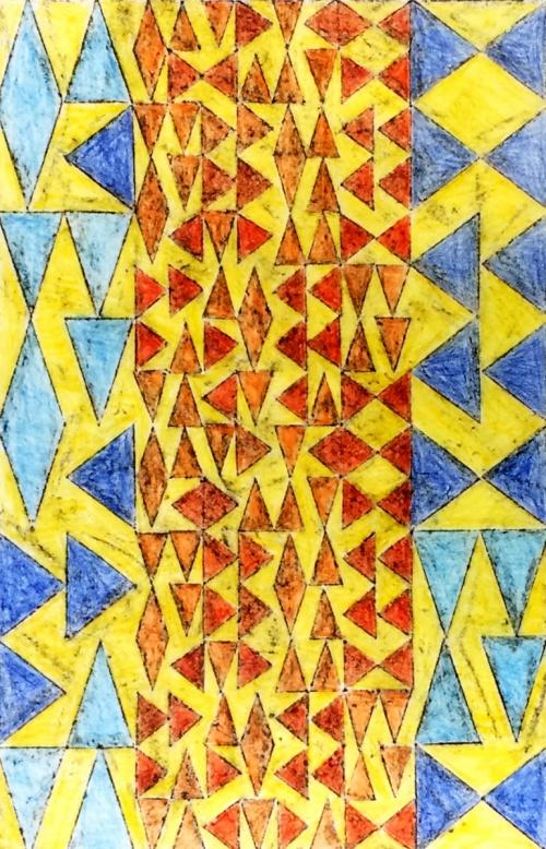 Orange & Blue Triangles