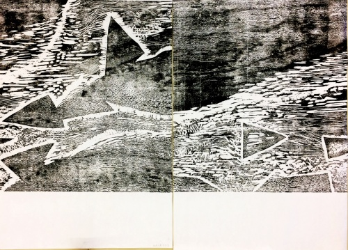 trial proof of large woodcut
