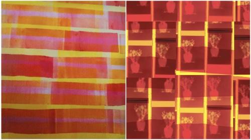 Stella Untalan and Robert McNellis details of artwork