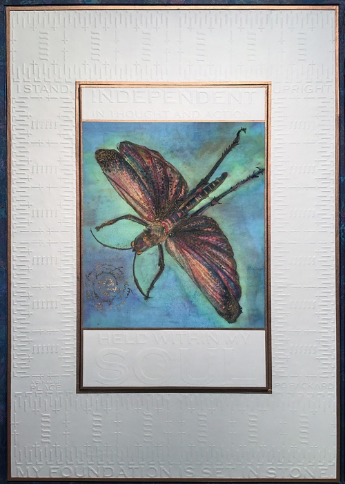 insect painting, there is Love by PD Packard