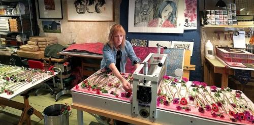 Artist PD Packard Present In Her Studio