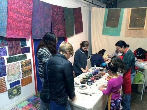 Japanese Decorative Paper Making Artist Demo with PD Packard