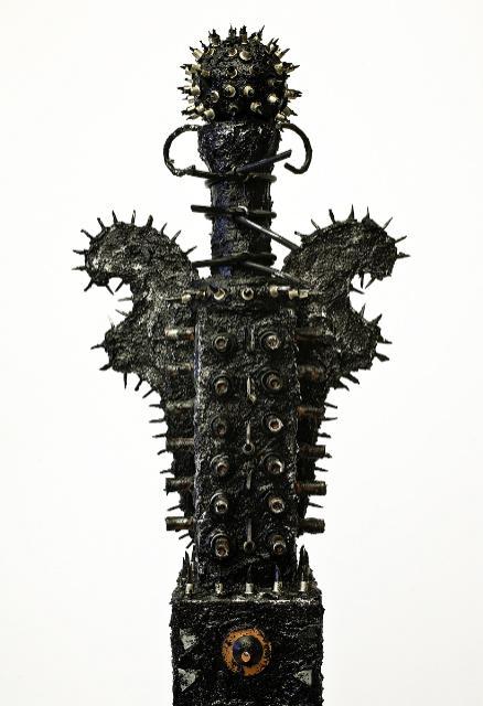 Carol Wisker, Kali-ma (detail), mixed media, 27 x 25 X 9 inches, 1994-2009