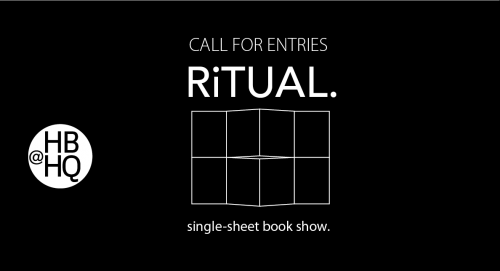 Open Call: RiTUAL. single sheet book show