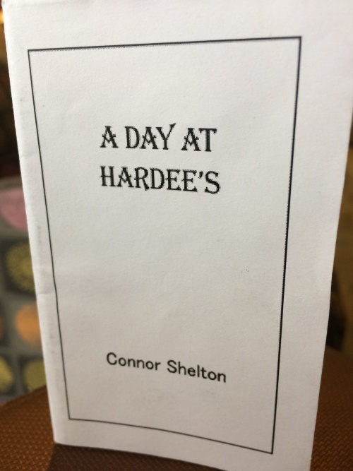 A Day at Hardee's by Connor  Shelton for Ritual single-sheet book show