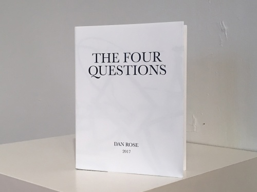 The 4 Questions artist book by Dan Rose