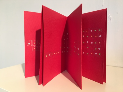 Stella Untalan : Tiny Boxes, a single sheet book in Ritual 2017