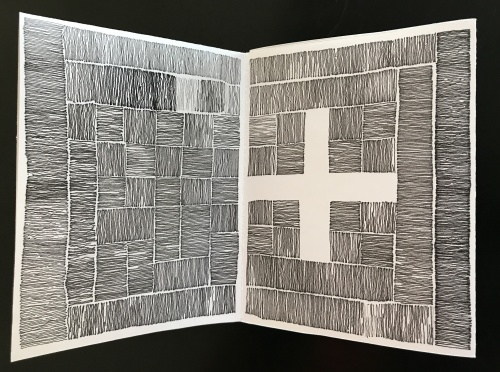 ink drawing on paper pages 2,3