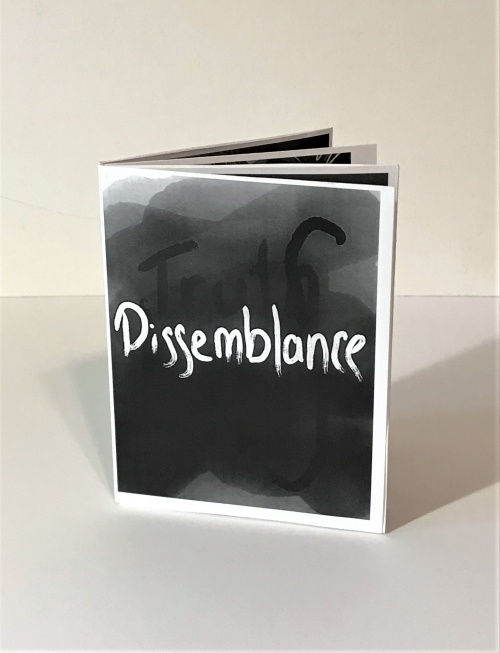 """Dissemblance"" cover, 8 page book of  digital drawings"