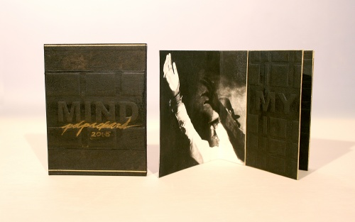 single-sheet book, MIND, part of the RiTUAL Book Show