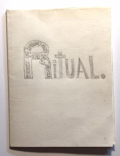 single-sheet book: drawings of rituals