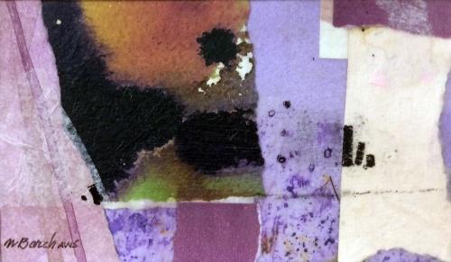 Abstract, purple, mixed media