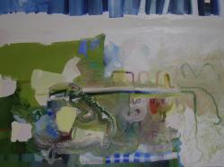 "BLUE, 36 x 48"", oil on canvas, 2012by Josette Urso"