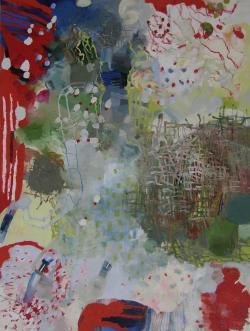 "Chesnut, 48 x 36"", oil on canvas by Josette Urso"