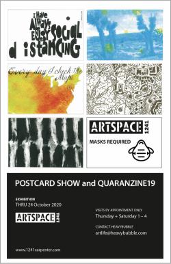 Poster for Postcard Show and Quaranzine19