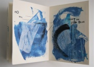 Notion no. 64: too blue, a ritual mediation book of type and paint