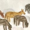 Icelandic Horses Grazing, Ochre Horse