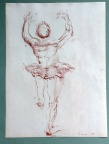 drawing, conti, male, partially nude, figure, partially clothed
