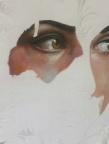 "Self Portrait, Acrylic On Canvas, 8""x12,"" by Kala Hagopian"