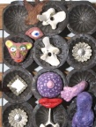Shamans Rise Up - mixed media assemblage, incorporating paper clay